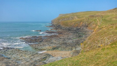 The splendid Cornish coast